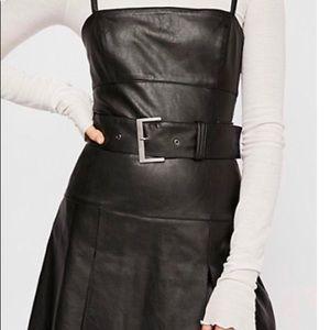 Free people vegan leather dress